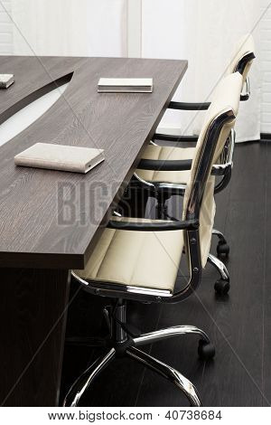 conference table in a modern office