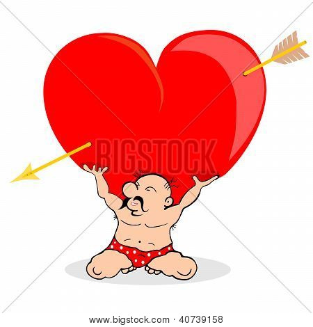 Man Holding Heart