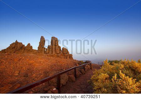 Roque de los Muchachos stones in Caldera Taburiente La Palma at Canary Islands
