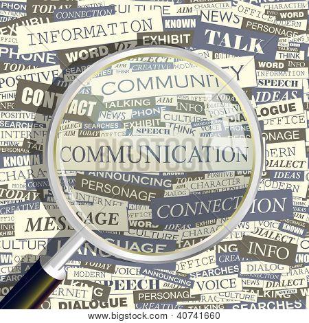 COMMUNICATION. Word collage. Vector illustration.