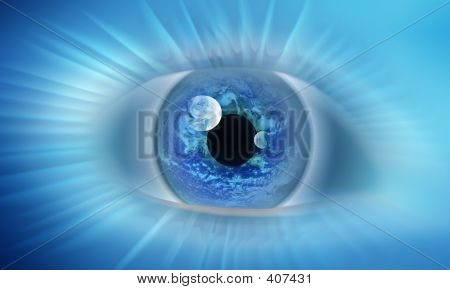 Eye Casting Blue Energy
