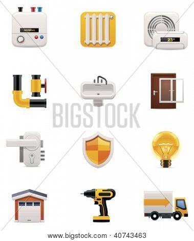 Conjunto de ícones de renovação em casa. Parte 2