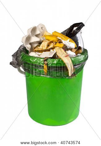 garbage can, isolated on the white