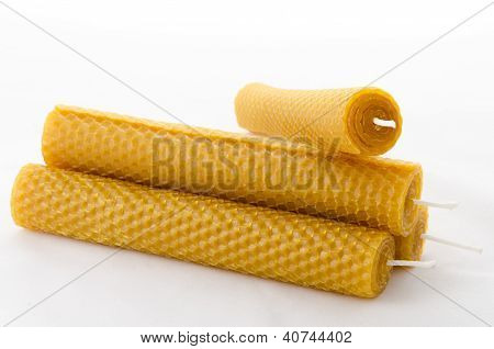 Four Beeswax Candles