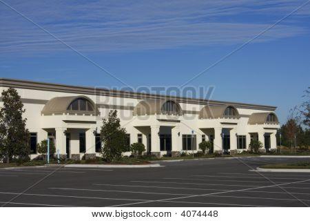 Brown Retail Strip Mall