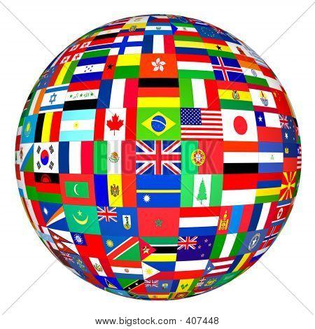 Globo de bandeiras