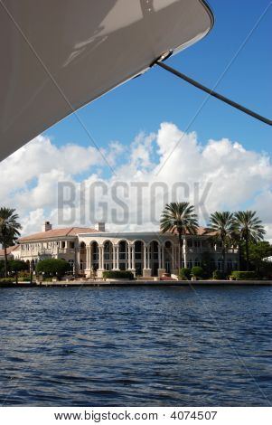 Mansion Under Yacht Bow