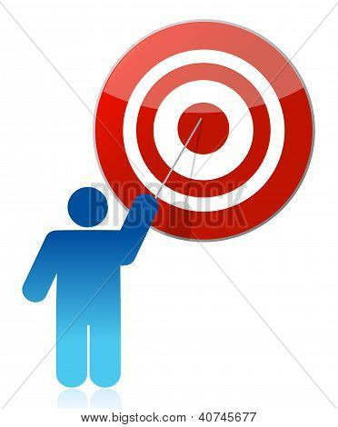 People - Man, Person Pointing A Target