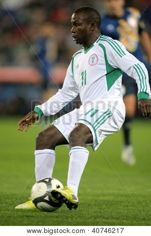 BARCELONA - JAN, 2: Nigerian player Ejike Uzoenyi in action during the friendly match between Catalonia and Nigeria at Estadi Cornella on January 2, 2013 in Barcelona, Spain