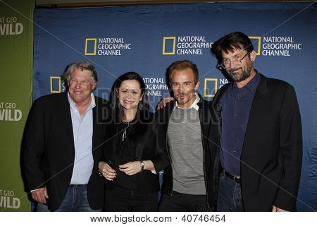 PASADENA - JAN 3: Graham Beckel, Geraldine Hughes, Jesse Johnson, Billy Campbell of the show 'Killing Lincoln' at the National Geographic Channels TCA party on January 3, 2013 in Pasadena, California