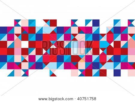 Abstract triangle background with red and white design elements