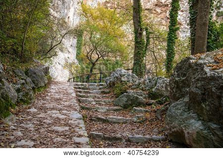 Old steps in mountains