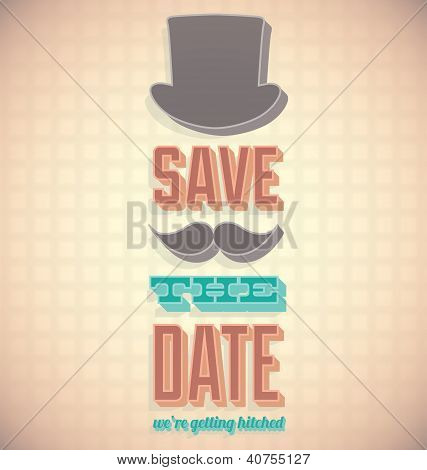 Vintage Save the Date Wedding Card
