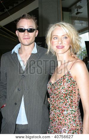 Heath Ledger and Naomi Watts