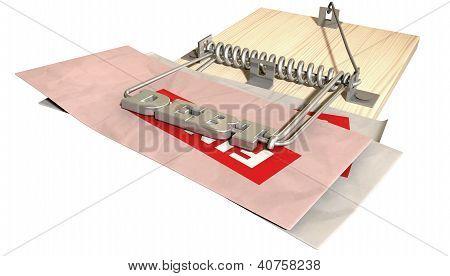 Mouse Debt Trap Font Bills