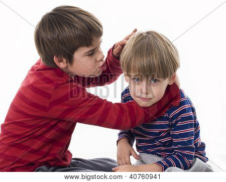 two brothers fighting
