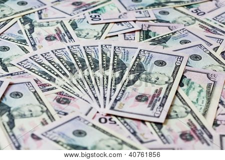 Money Background With Dollars Pack