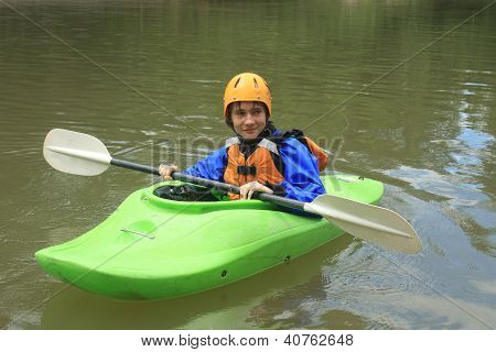 Teenager Kayaking
