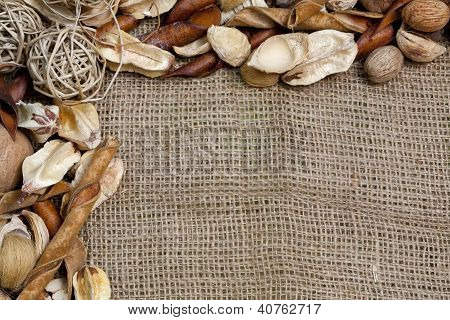 Rustic Country Burlap And More Background
