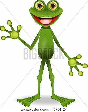 Very Cheerful Frog