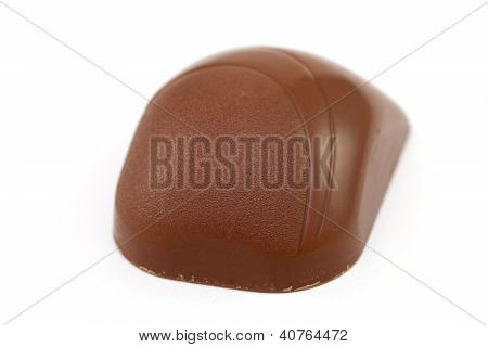 Chocolate  Bonbon On White Background