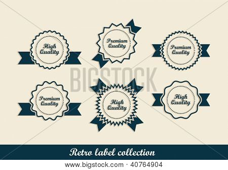 Retro vintage labels. Editable format in portfolio.