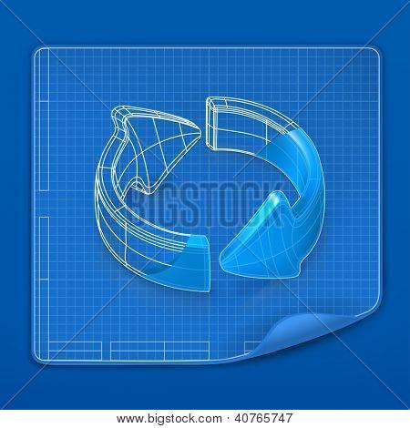 Modelo de desenho seta, cópia de bitmap