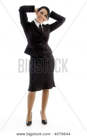 Young Businesswoman Posing