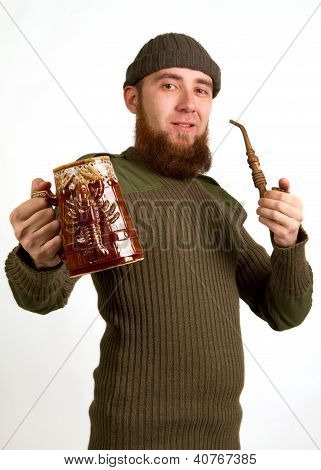Bearded Guy Drinking Beer