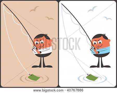 Businessman Fishing Concept