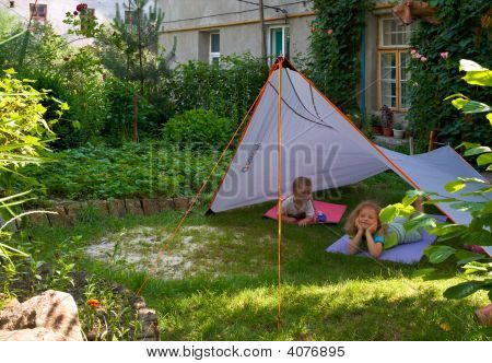 Children In Garden