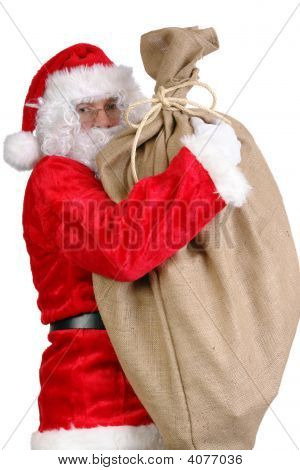 Santa With Big Sack