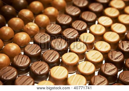 Variety of hand made swiss chocolate