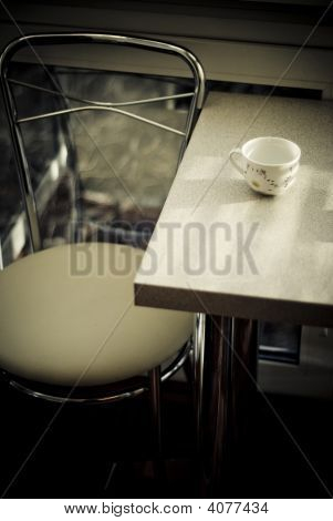 A Dining Table In The Cafe