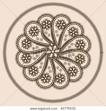 Abstract Design In Indian Style