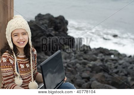 Child enjoying her time outdoor