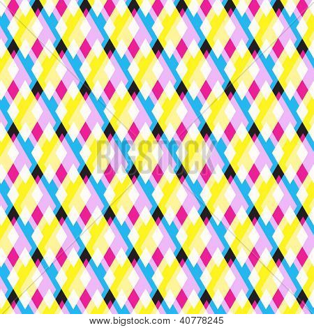 Abstract CMYK Triangles Vector Background | Pattern Illustration