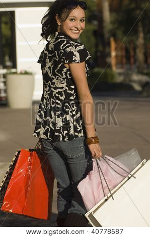 Teenage Girl on Shopping Spree
