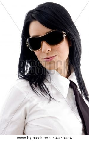 Young Businesswoman Wearing Sunglasses