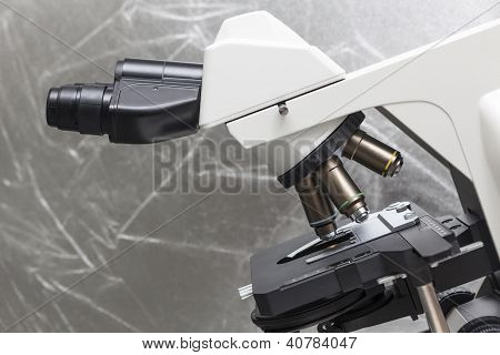 Microscope In Bio Lab