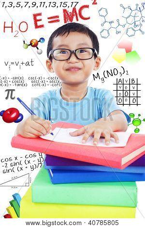 Preschooler Studies Science