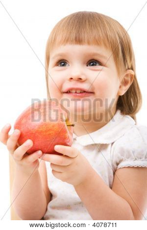 Cute Girl With Apple