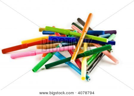 Pile Of Markers.