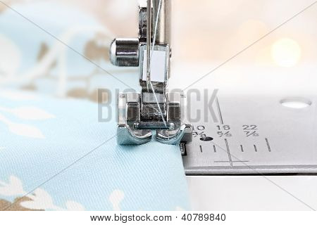 Sewing Machine Needle And Fabric