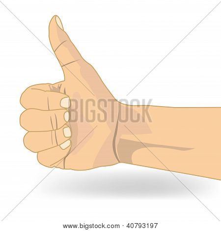 Thumb Up Like Hand Symbol Vector.eps