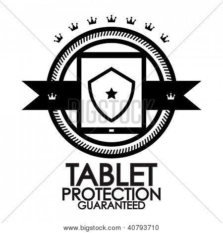 Black retro vintage label | tag | badge | tablet protection stamp