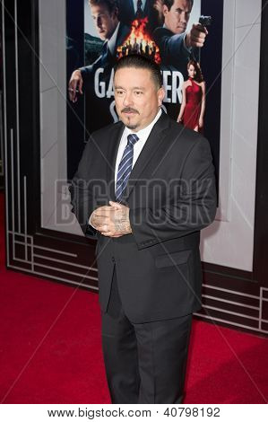 LOS ANGELES, CA - JANUARY 7: Mister Cartoon arrives at the premiere of Gangster Squad at Grauman's Chinese Theatre in Los Angeles, CA on January 7, 2013