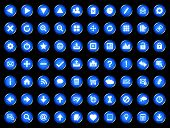 Set of blue universal web icons