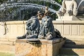 Lion Statues Of Water Fountain
