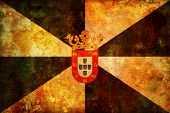 stock photo of ceuta  - some very old vintage flag of ceuta - JPG